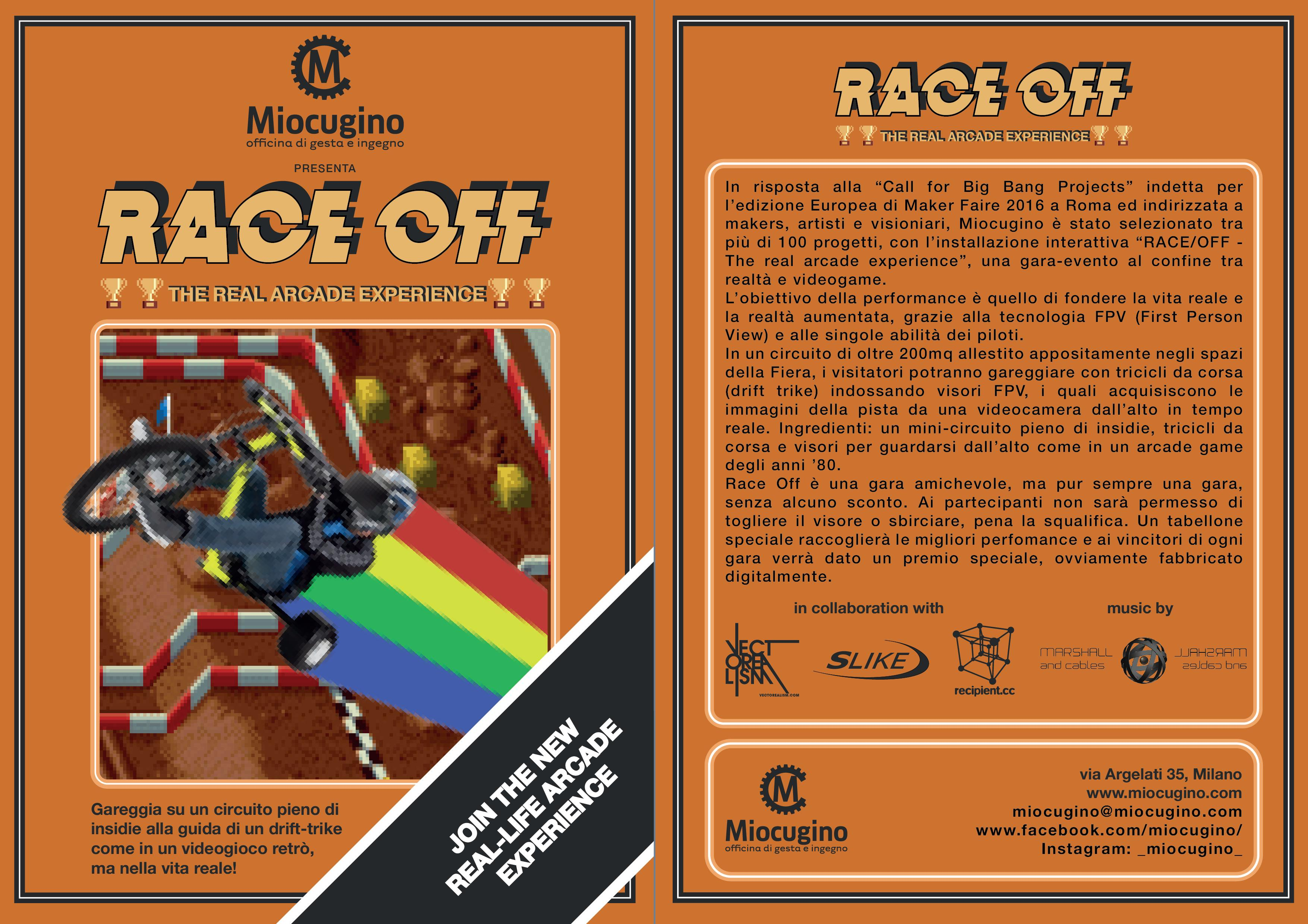 RACE/OFF - The real arcade experience