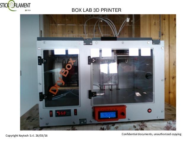 stampante 3D con essiccatore