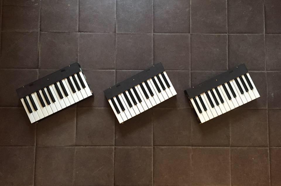 Piano de Voyage, a 3D-Printed portable piano keyboard