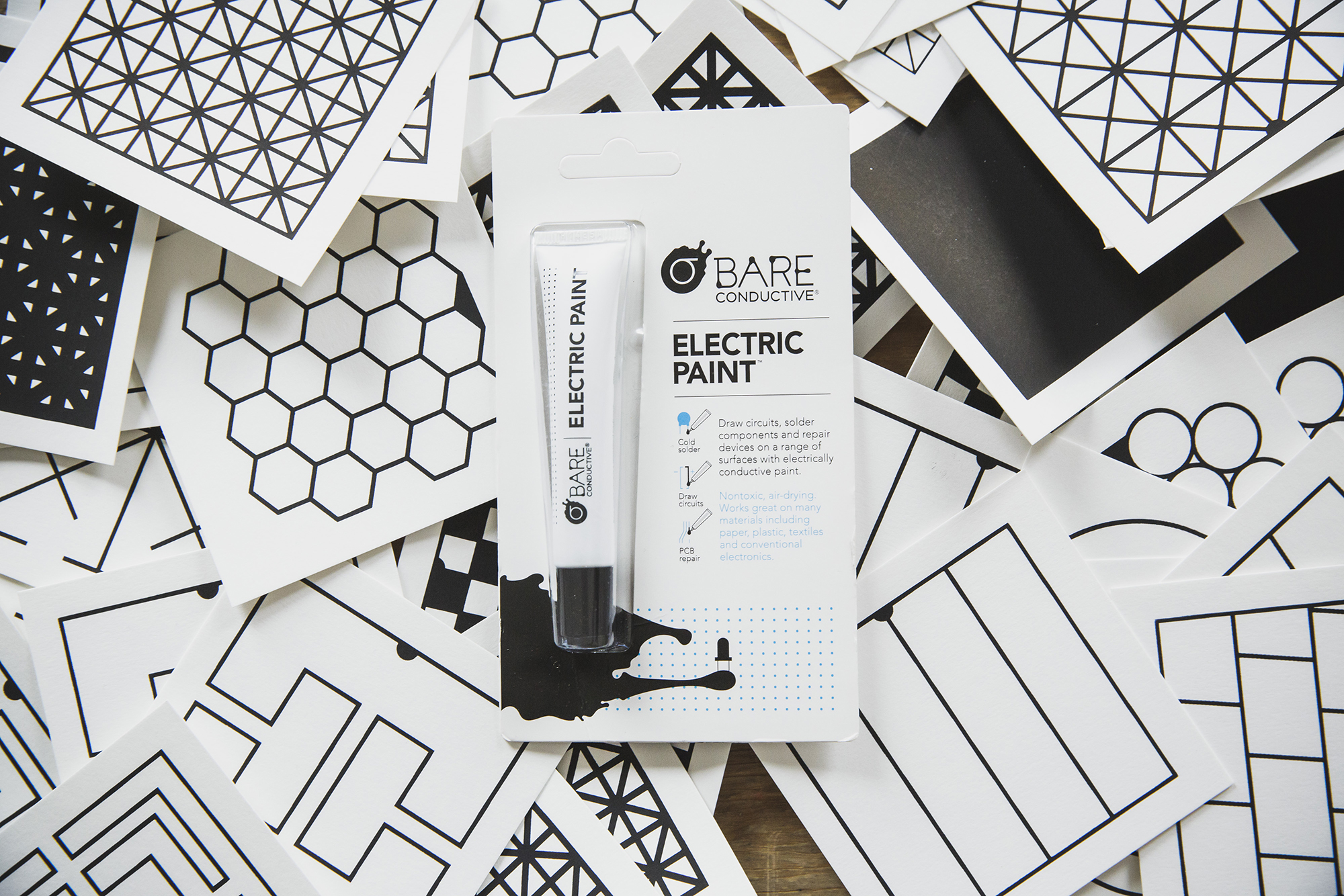 Bring sensors into your world with Bare Conductive's Electric Paint, Touch Board and Pi Cap!