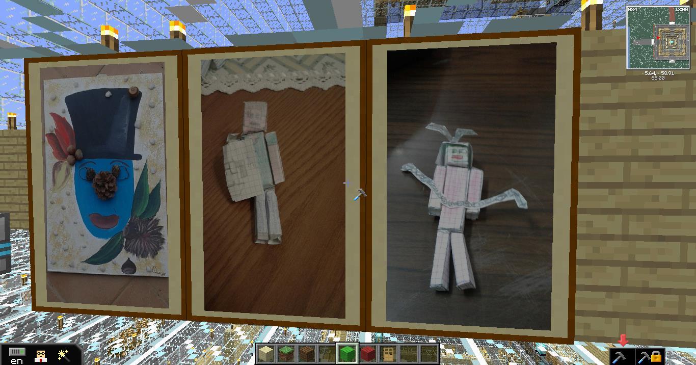 Minecraft e l'arte: quando la realta' fisica incontra quella virtuale
