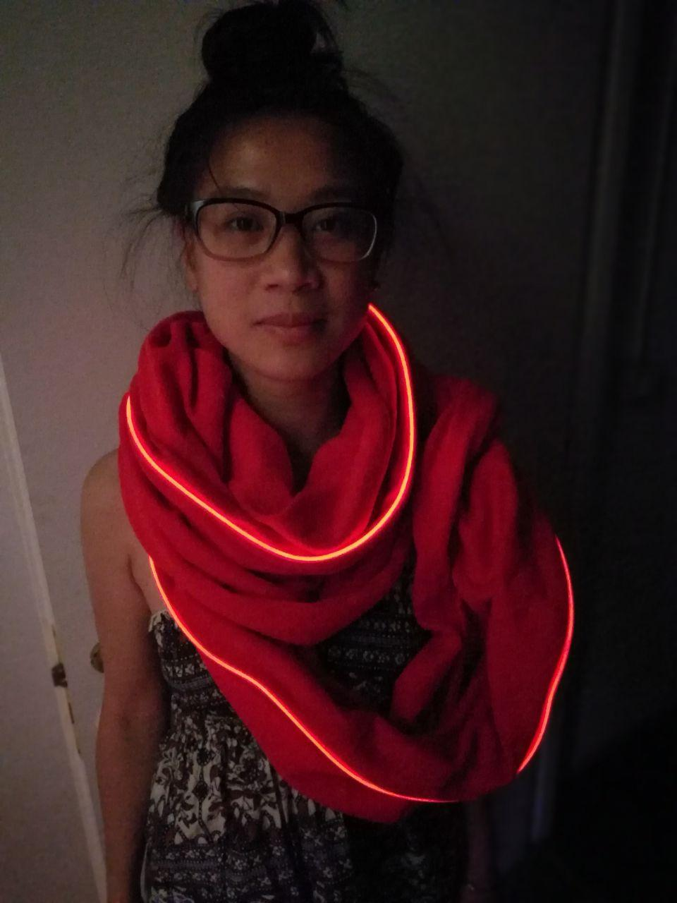 Wearable EL Workshop, Sewing Sound Reactive EL Wire on your Cloth!