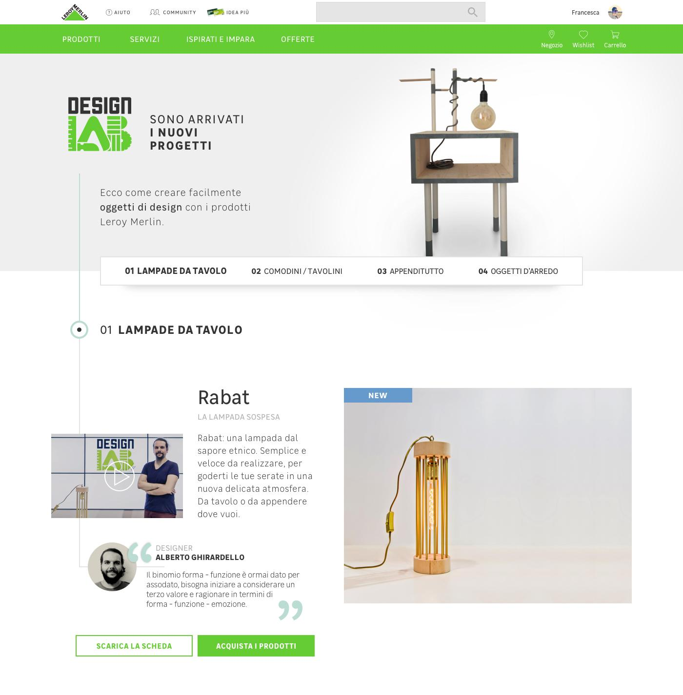 Design lab: how to develop project and tutorial for the DIY