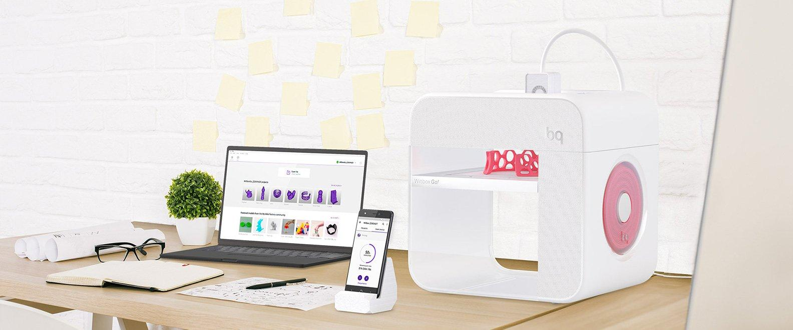 bq Witbox Go! - The first 3D printer with an Android operating system