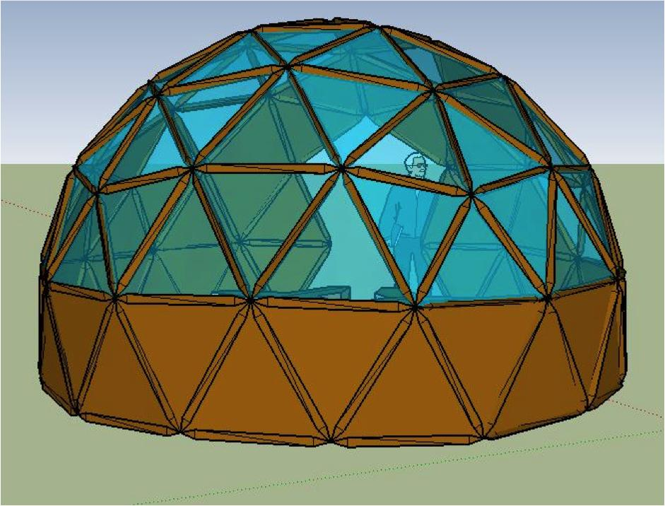 Biomines and platonic solids-mechanical behavior of reciprocal patterns and structures and geodesic domes + Robotic geodetic dome construction