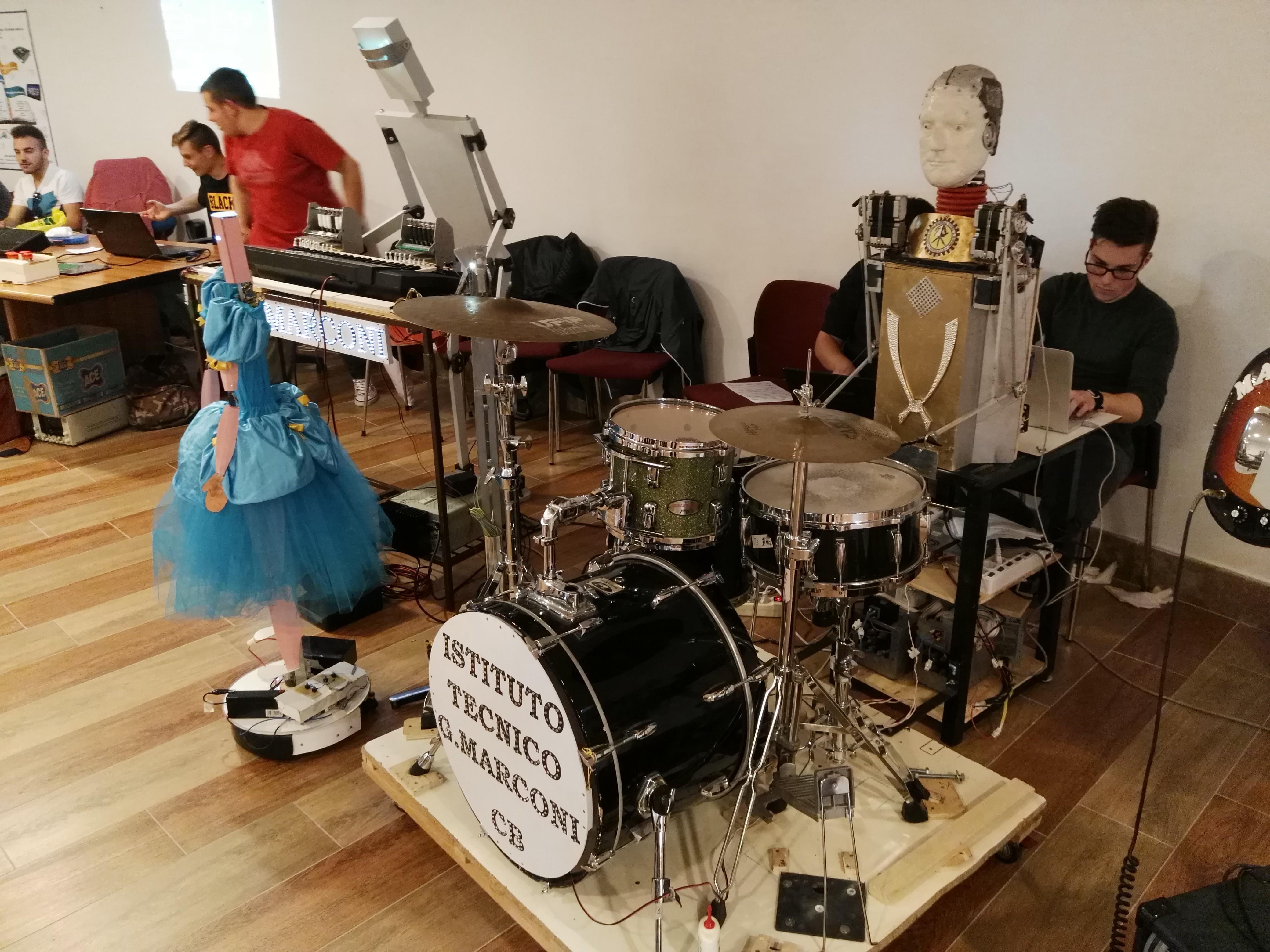 Robot band music