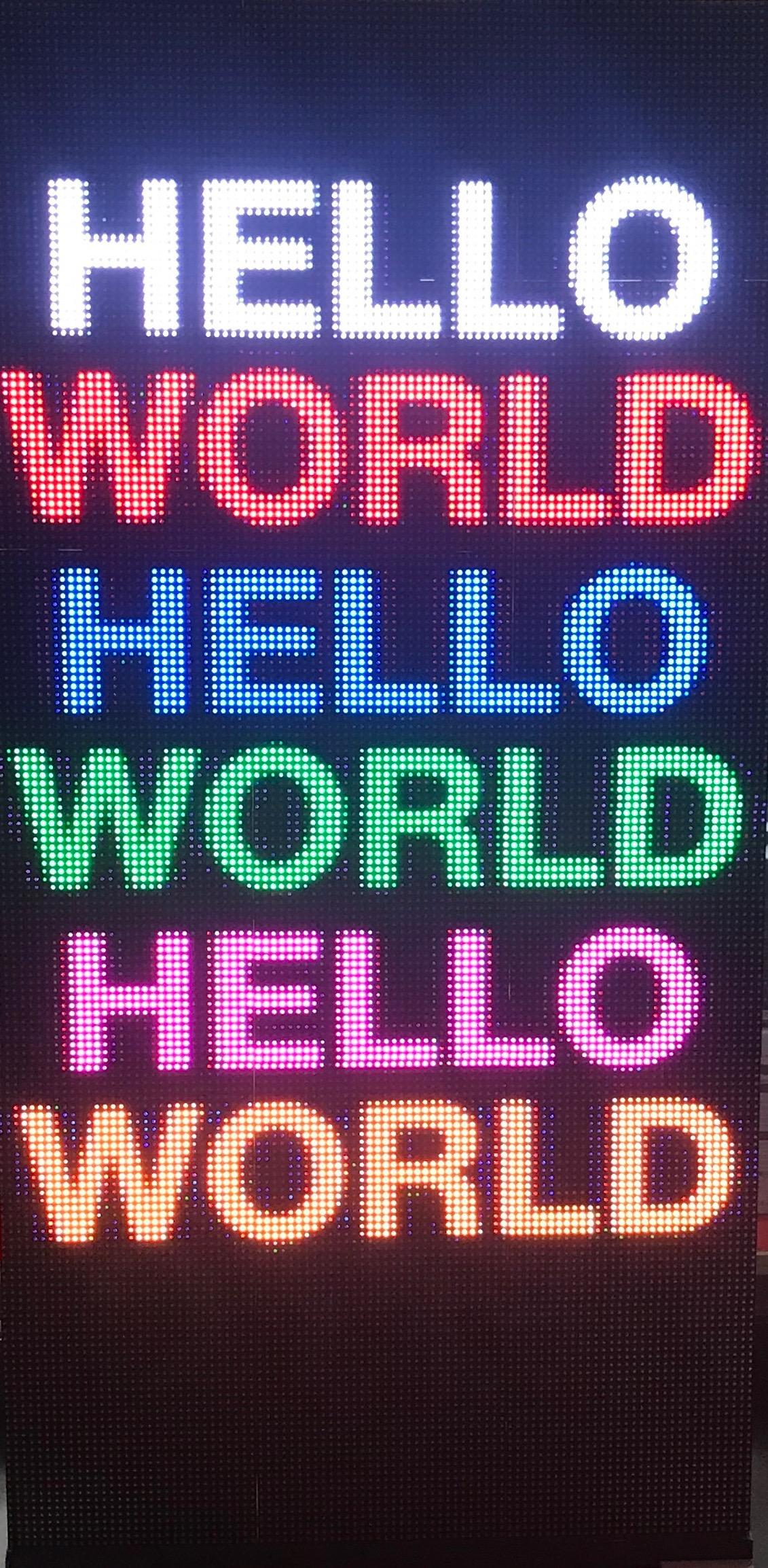 HAT per pannelli a led RGB per digital signage basata su Raspberry Pi