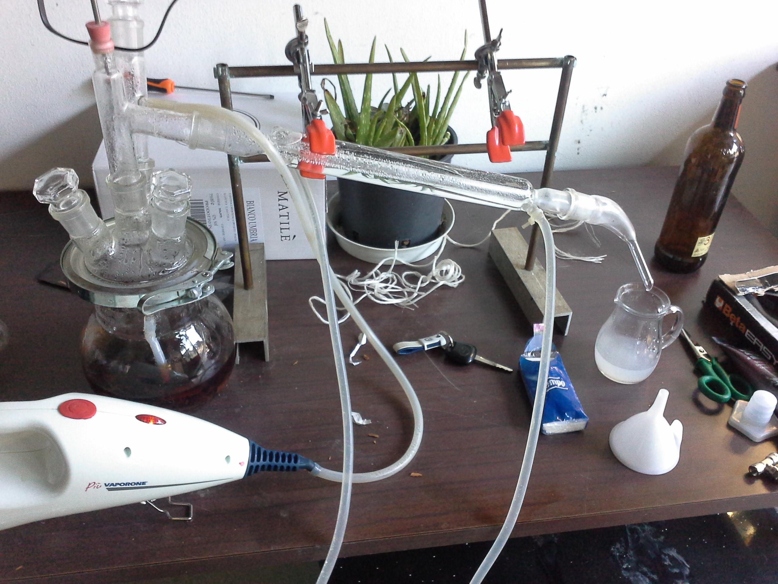 automatizzazione della distillazione in corrente di vapore
