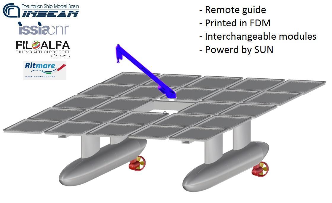 STAMPA in FDM di un  veicolo marino tipo SWATH (Small-Waterplane-Area Twin Hull) per la ricognizione costiera, a guida automatica o remota