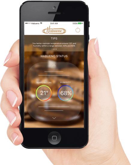 Habueno, monitoraggio intelligente dell'humidor per sigari da smartphone e tablet
