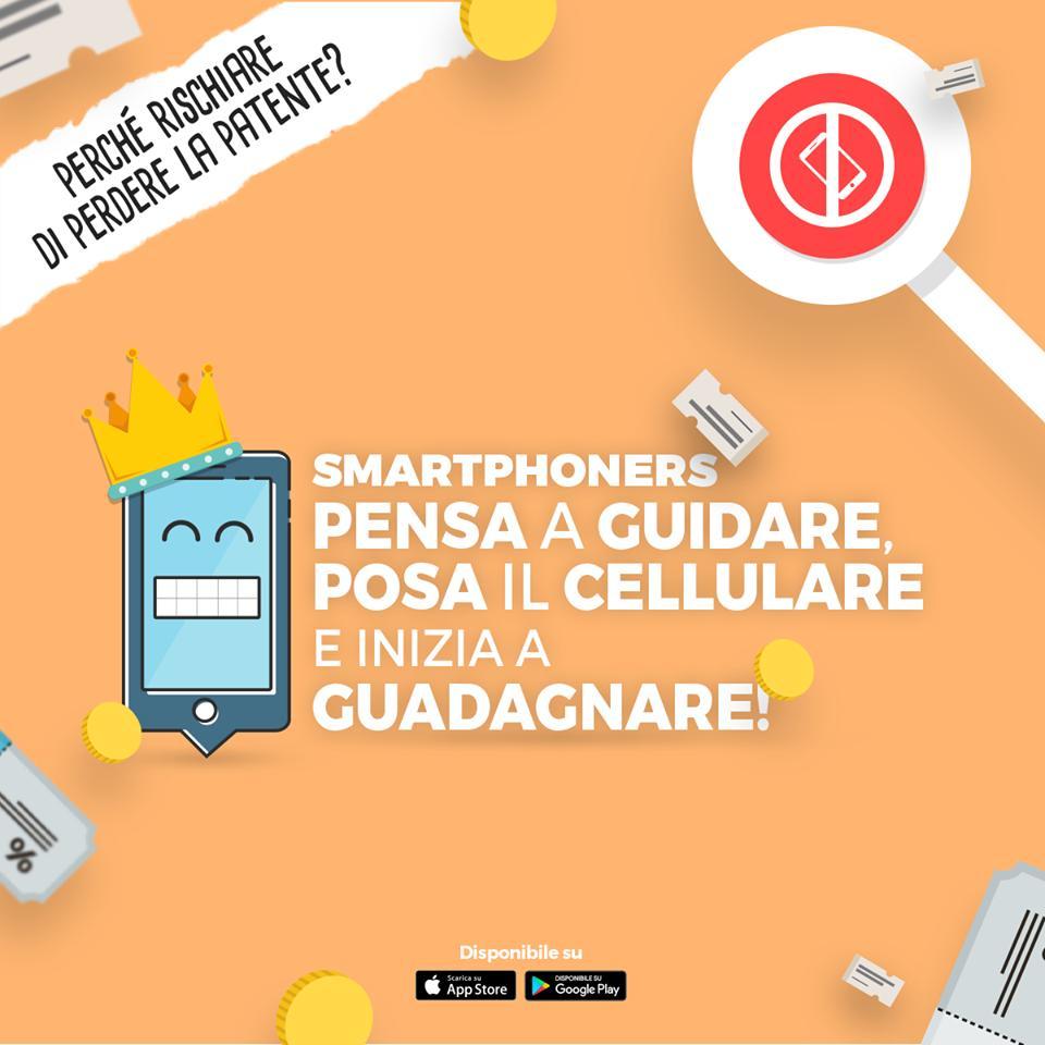 Smartphoners - Pensa a guidare, posa il celluare e inizia e guadagnare!
