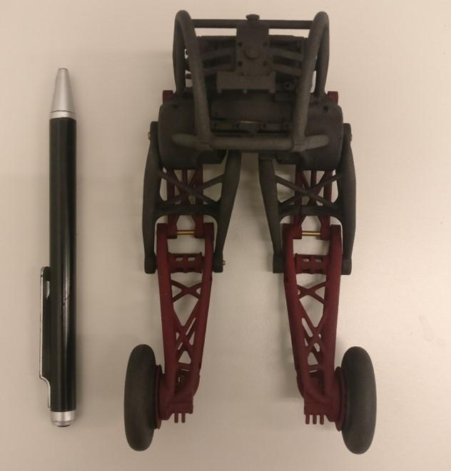 Assembly of a small model of the Ascento robot