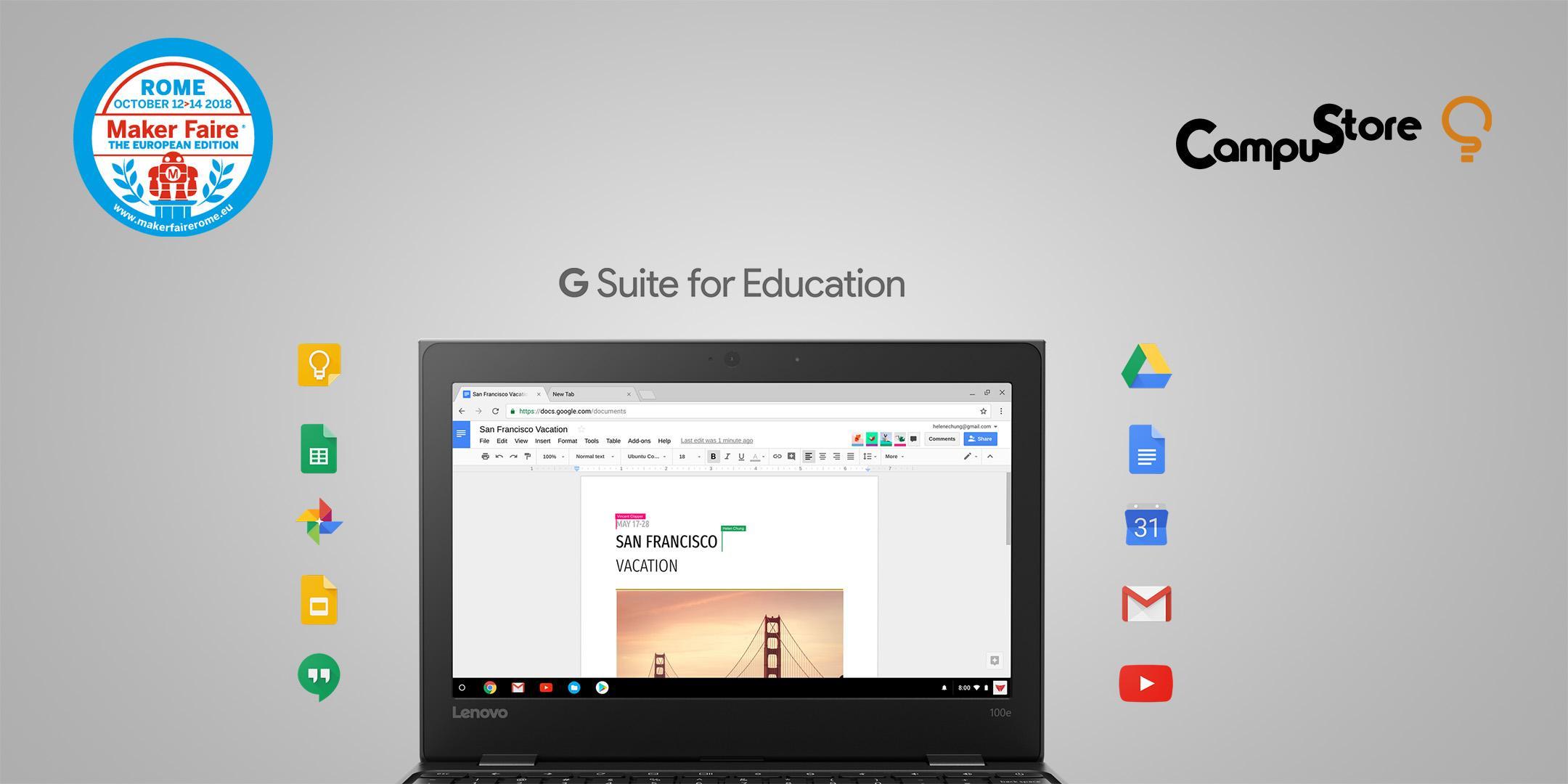 ChromeBook e G Suite: utilizzare Google for Education a scuola