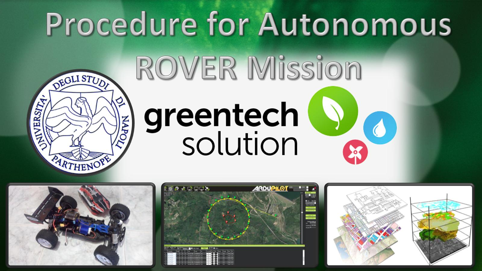 Procedura per missione ROVER autonoma