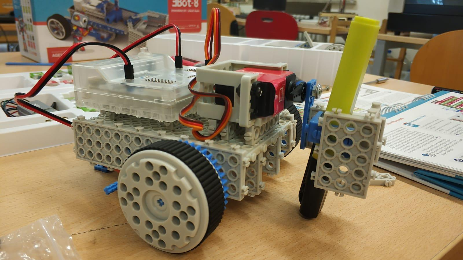 EBot is a DIY ecosystem developed for students, kids, artists, and robotics enthusiasts to learn, explore and build working prototypes through experiments and games.